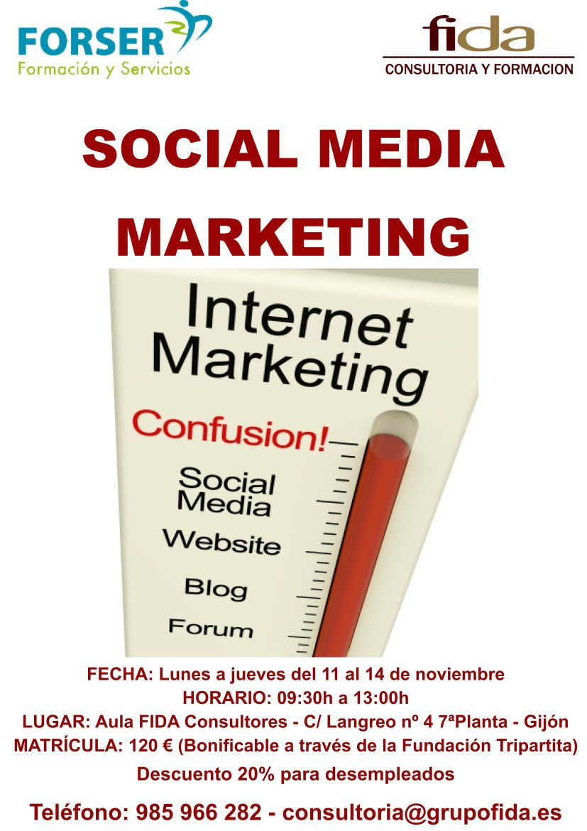 Social Media Marketing Gijón 11 Noviembre